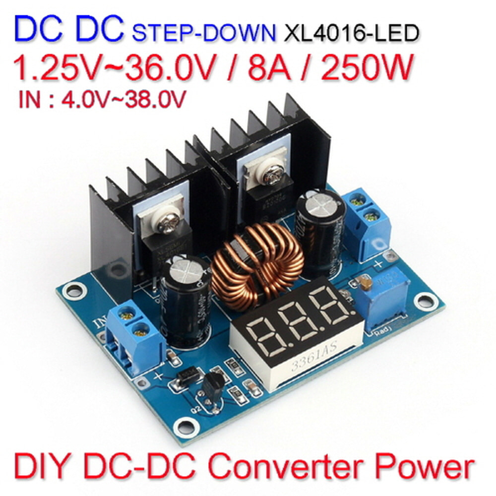 [WZ] [DC-DC 컨버터] DC DC Step Down Converter Power XL4016-LED 1.25V~36.0V / 8A / 250W
